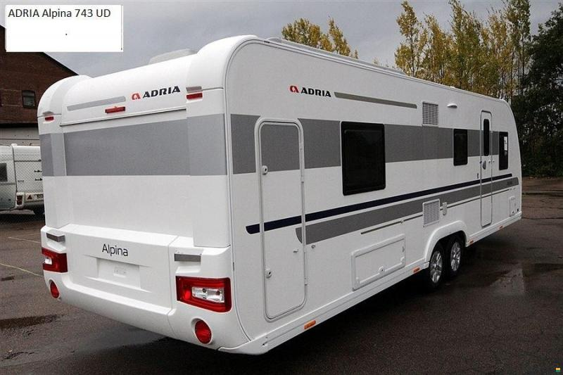 adria alpina 743 ud wohnwagen caravan. Black Bedroom Furniture Sets. Home Design Ideas